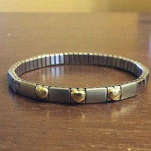 Jewelry - 18KT Gold / Stainless Italian Charm Bracelet